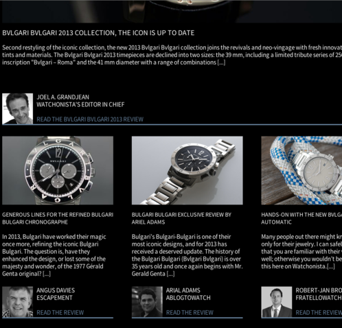Watchonista - Action Bulgari Bulgari : reviews