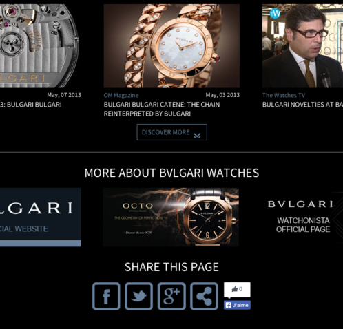 Watchonista - Bulgari Bulgari action : they talk about, more and share