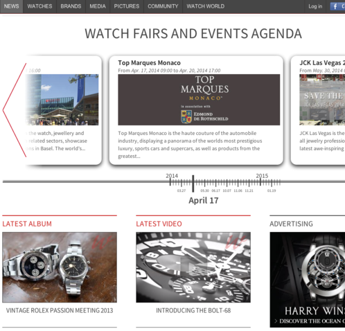 Watchonista - Public : News and events