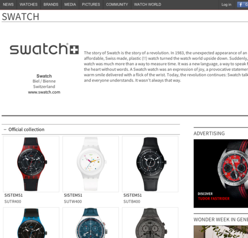 Watchonista - Brand : Homepage (non partner)
