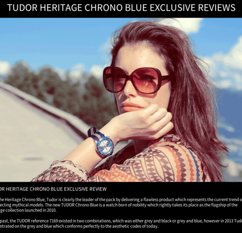 Watchonista - Tudor Chrono Blue action : Reviews