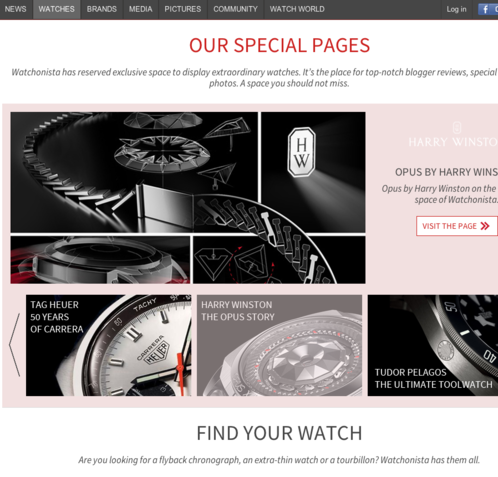 Watchonista - Public : Watches, special pages