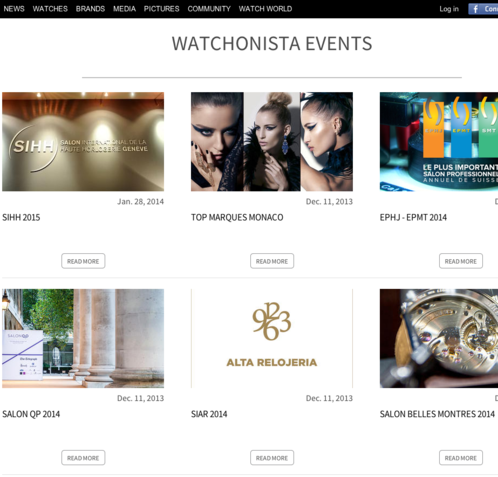 Watchonista - Media : Watchonista Blog, events