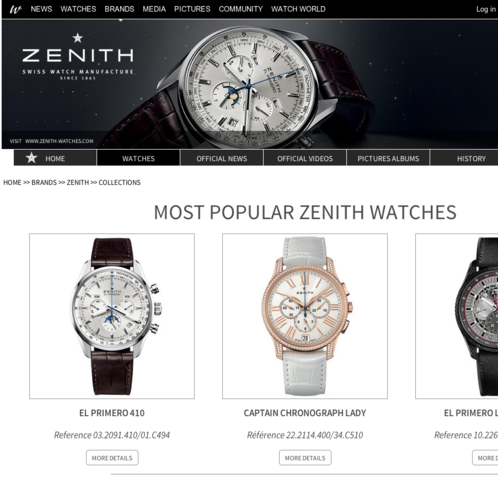 Watchonista - Brand : Zenith, the watches
